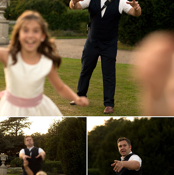 In case you're wondering what's going on here. I've let an 8 year old flower girl use £7000's worth of camera kit. For a brief moment, she felt special, trusted and an equal. There's more to wedding photography than just shooting the wedding. You're an addition to the day and have a responsibility too.