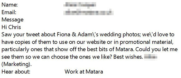 ...if you're lucky and you're work impresses the right people you might get an email like this.