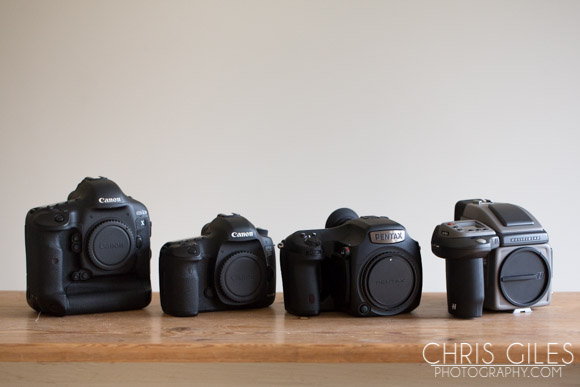 The Canon 1DX, 5D mkIII, Pentax 645z and the Hasselblad H4D50