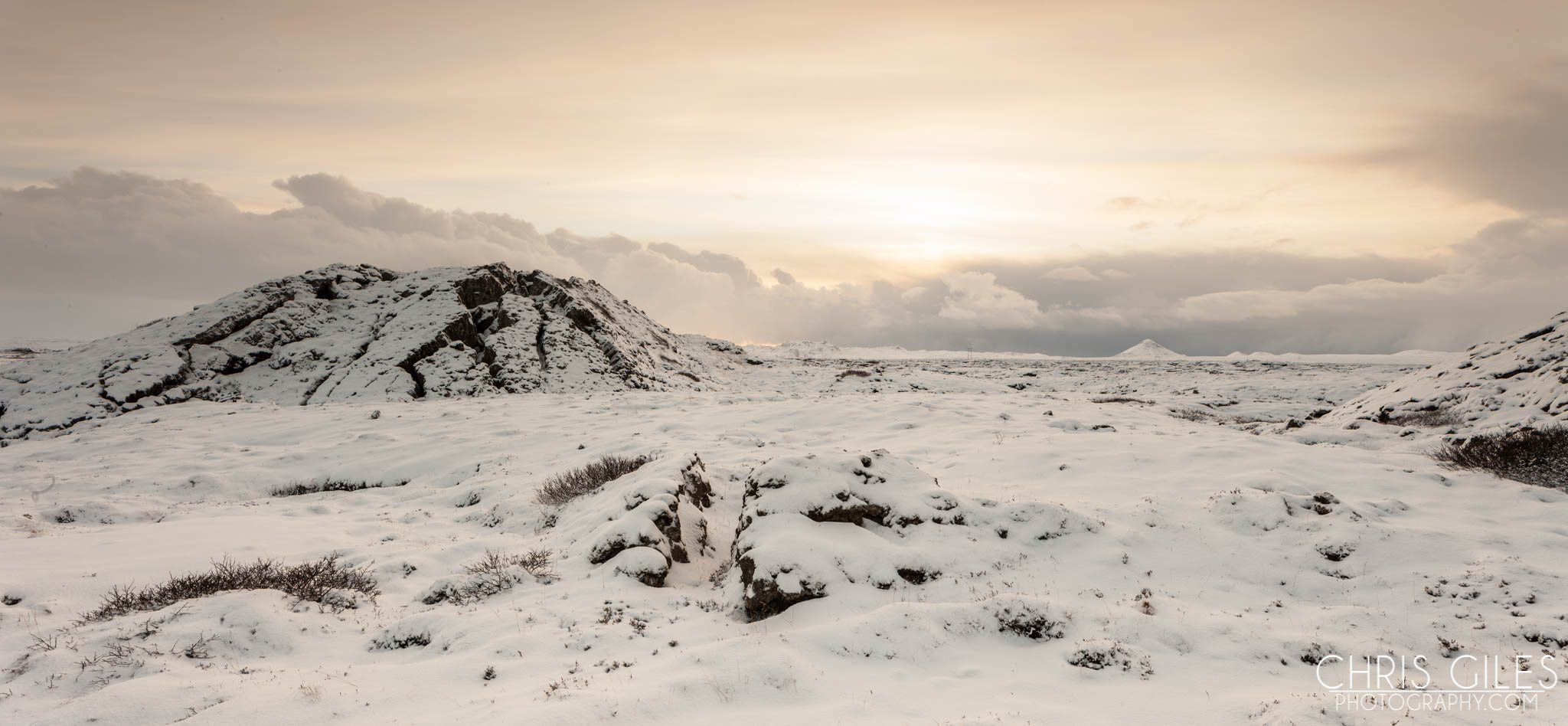 Snowfall in Iceland