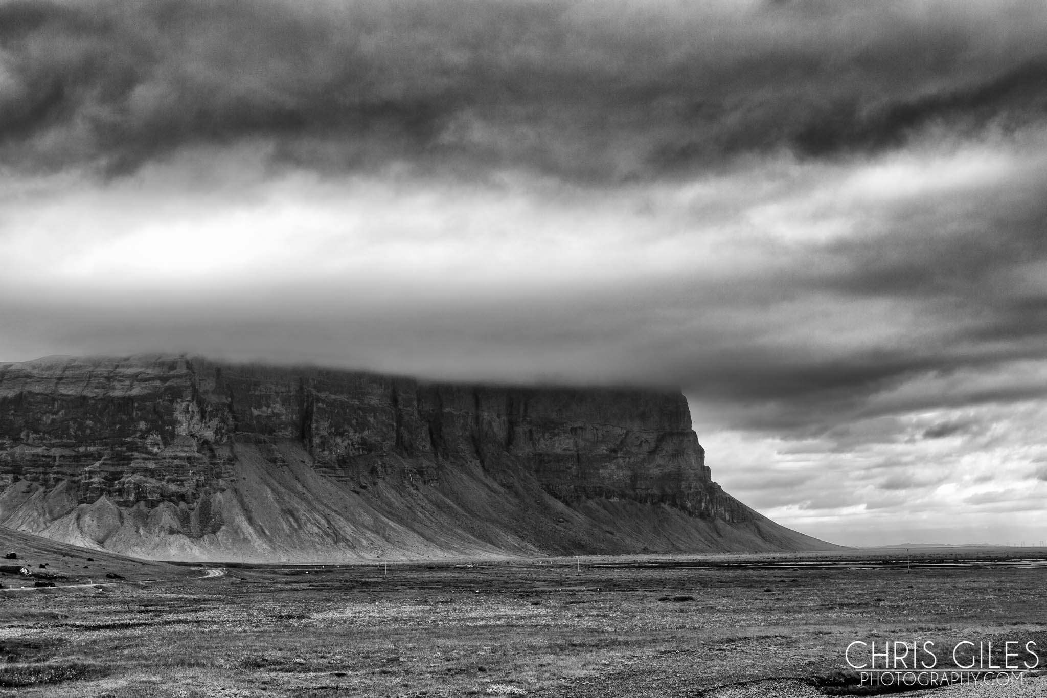 The road to Southern Iceland