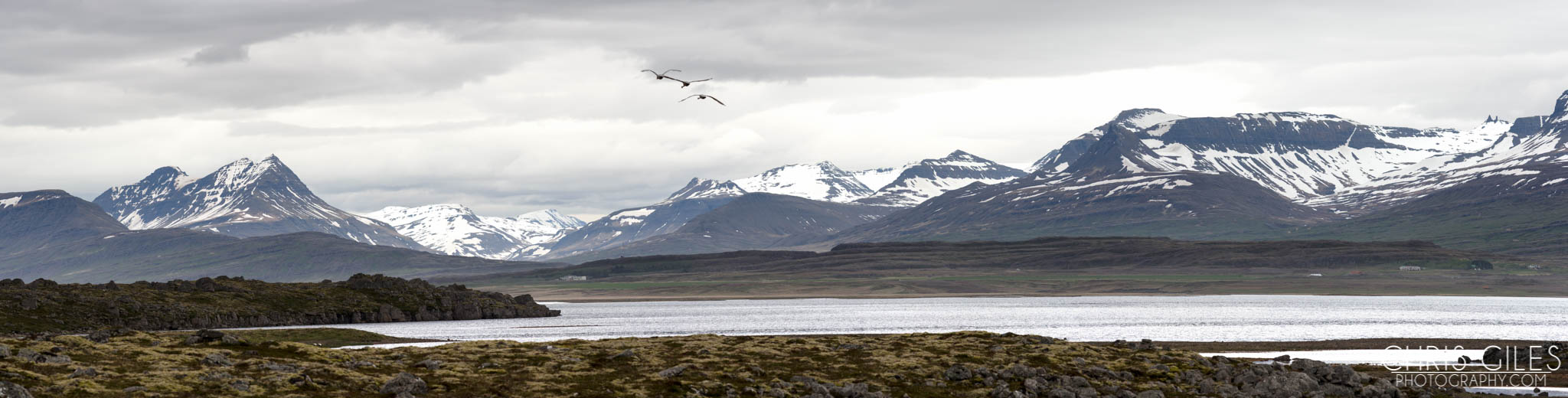 Panoramic photo of the Eastern Fjords in Iceland - Pentax 645z
