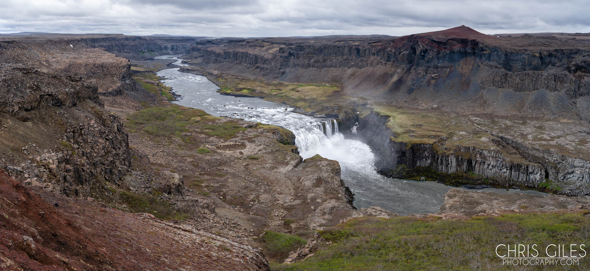 The river leading away from Detifoss, Iceland - Pentax 645z