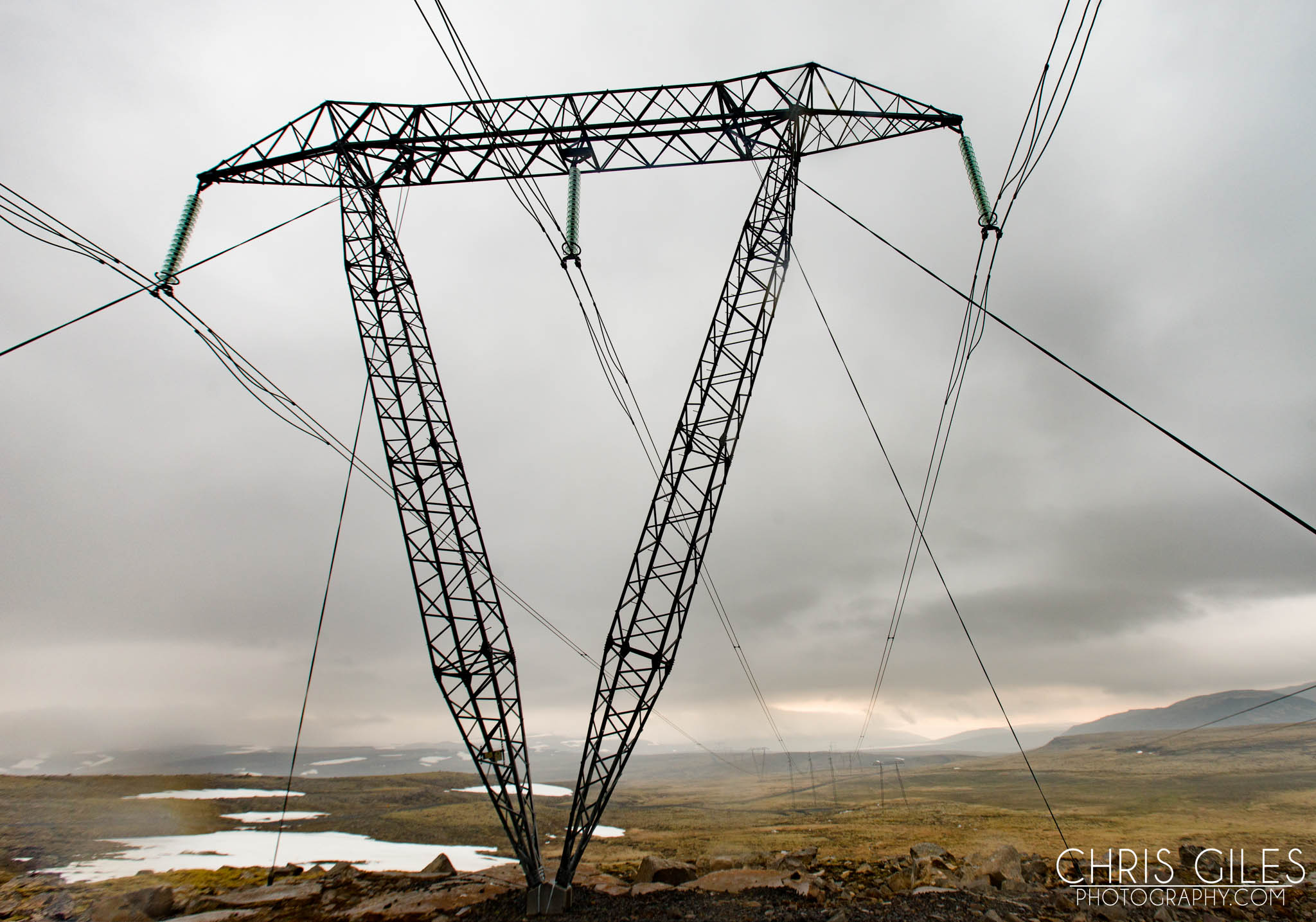 Electrical Pylon in Iceland