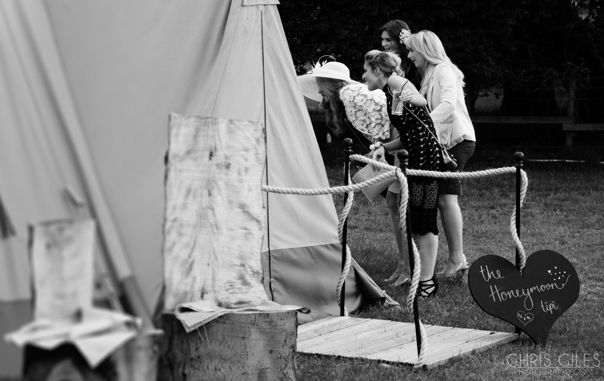 Tipi Wedding in Lancashire
