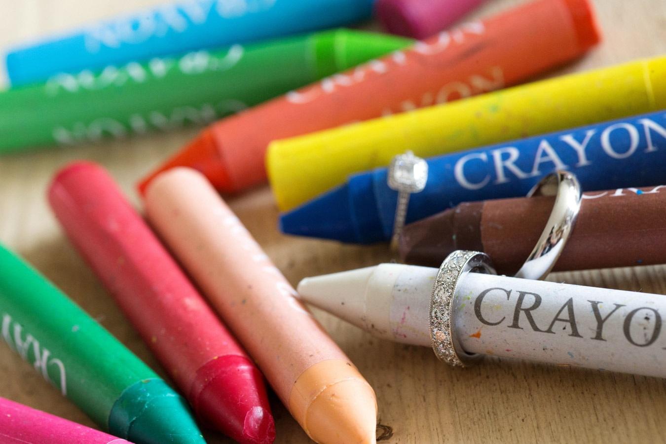 Crayon Rings Old Luxters Barn Wedding Chris Giles Photography