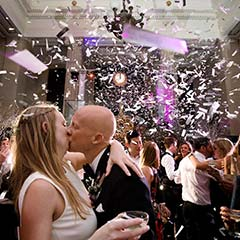 Banking Hall Wedding at New Years Eve in London