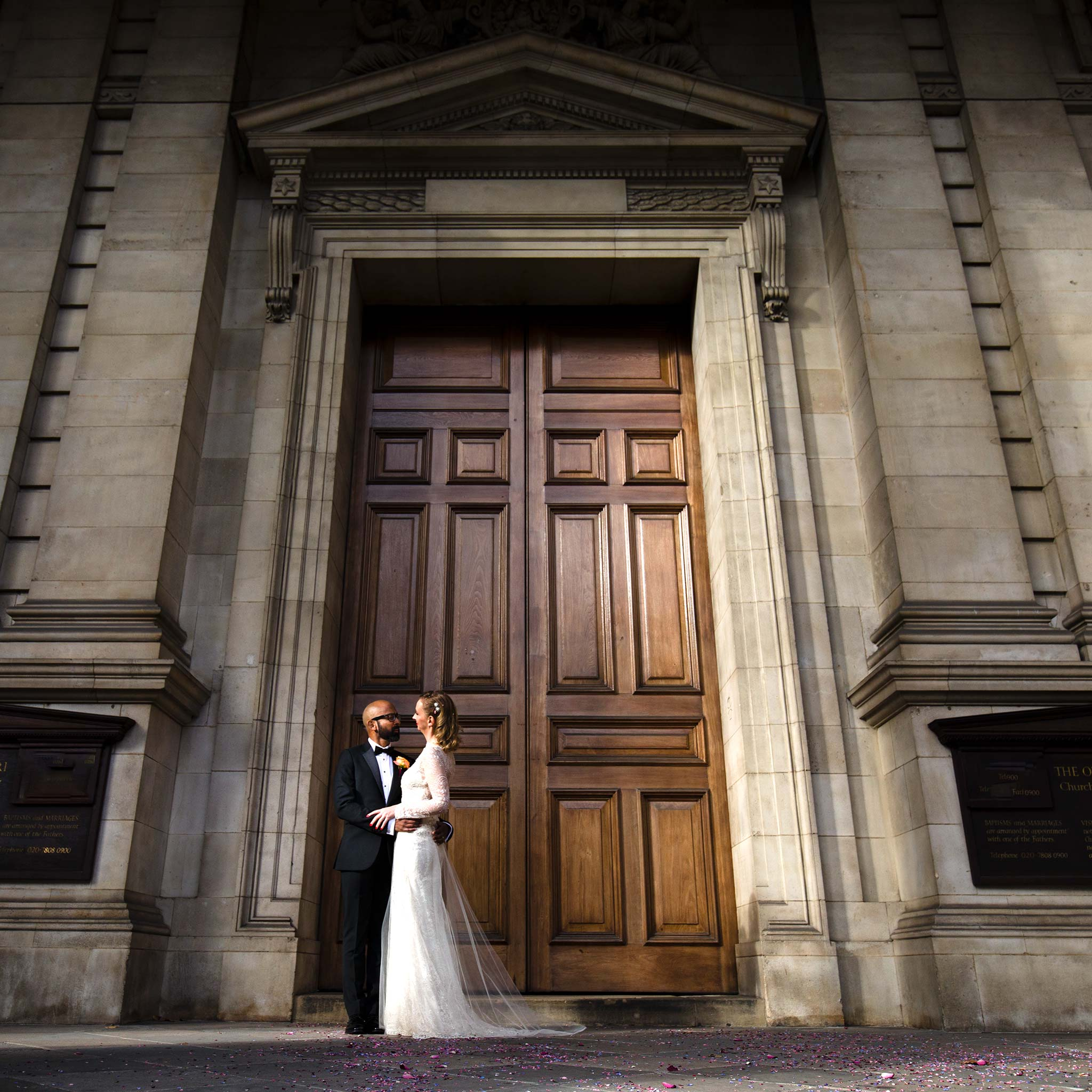 Brompton Oratory and Ognisko Restaurant Wedding