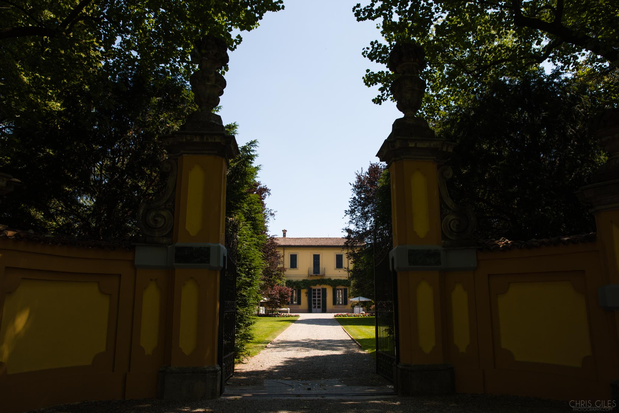 The entrance to The Villa Negri in Italy