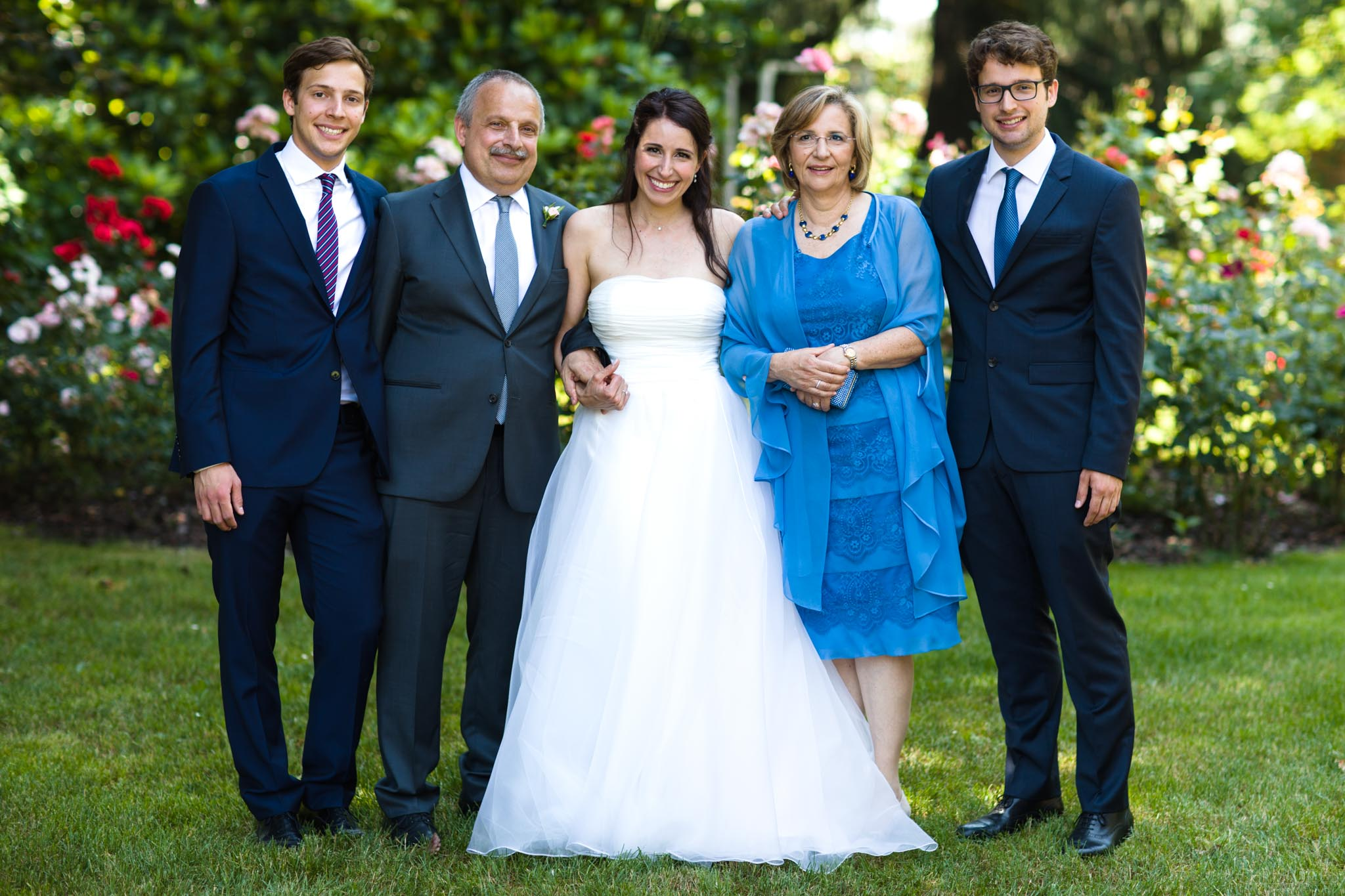 family portraits on the grounds of the VIlla Negri, Italy