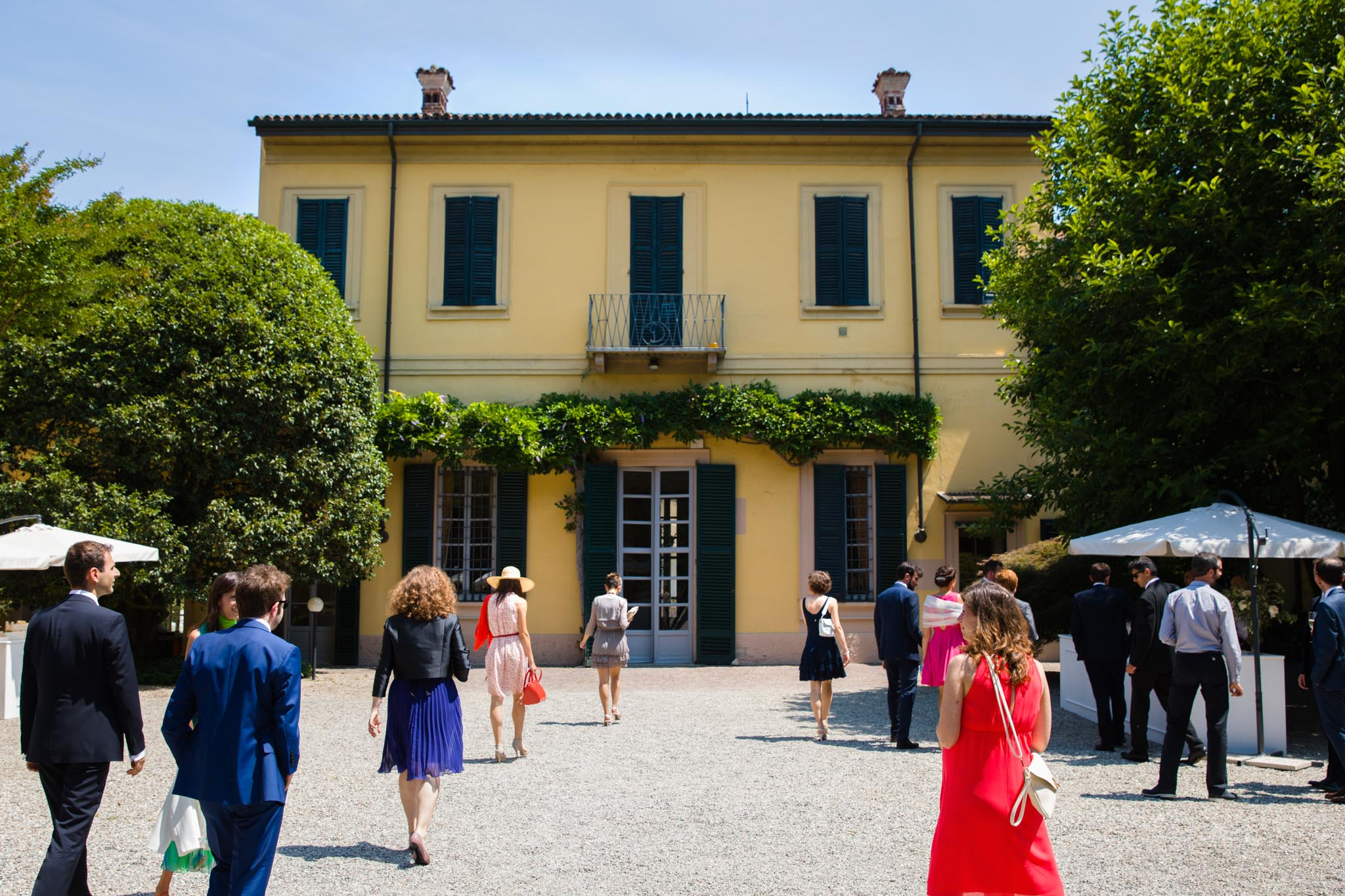 Italian wedding at the Villa Negri