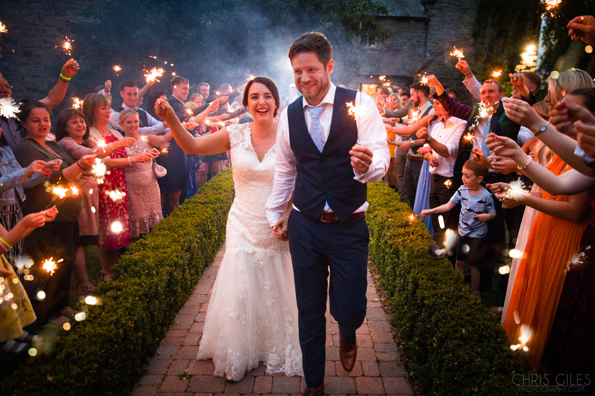 Sparkler photo at Woodhill Hall