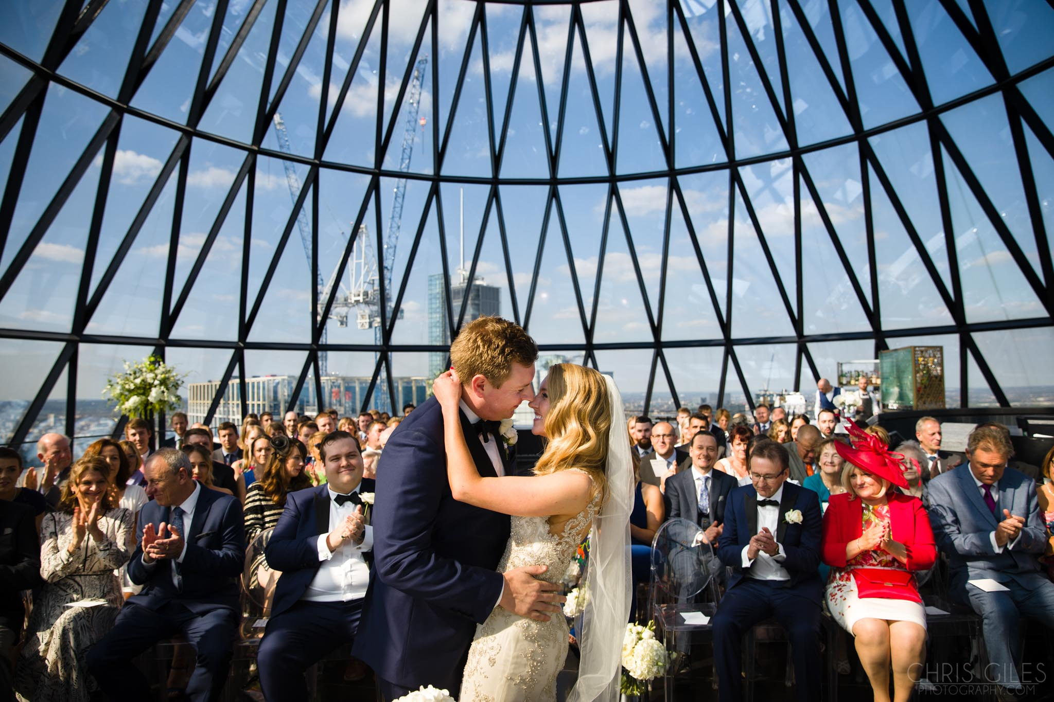 The Gherkin London, Wedding at the Gherkin, London, Ceremony room