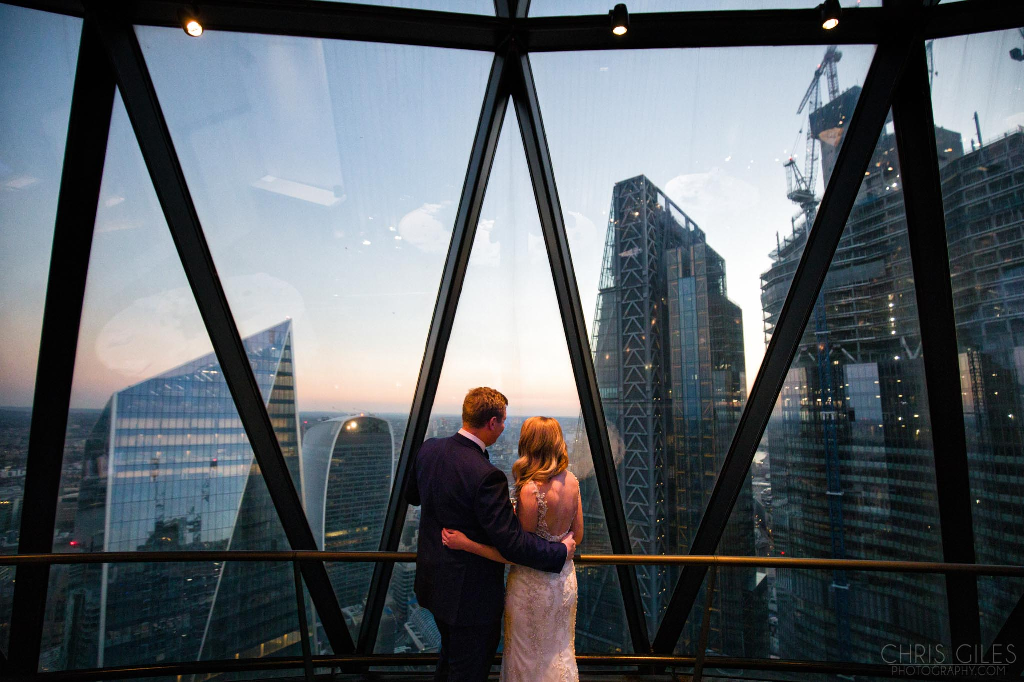 wedding photographer at The Gherkin London